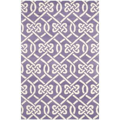 Wilkin Purple / Ivory Area Rug Rug Size: 6 x 9