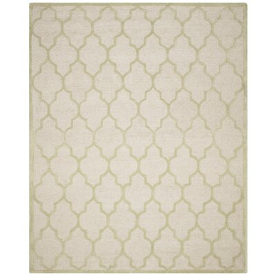 Martins Ivory / Light Green Area Rug Rug Size: 8 x 10