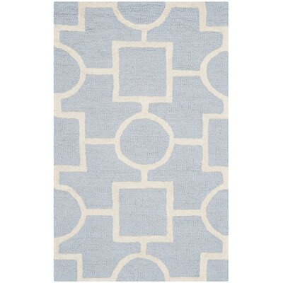 Martins Light Blue / Ivory Area Rug Rug Size: Rectangle 2 x 3