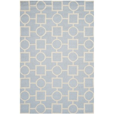 Martins Light Blue / Ivory Area Rug Rug Size: Rectangle 6 x 9