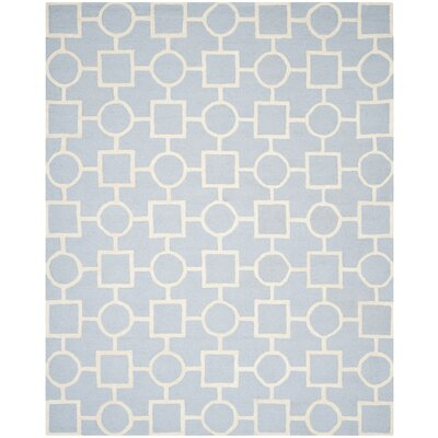 Martins Light Blue / Ivory Area Rug Rug Size: Rectangle 9 x 12