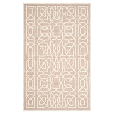 Martins Beige / Ivory Area Rug Rug Size: 4 x 6