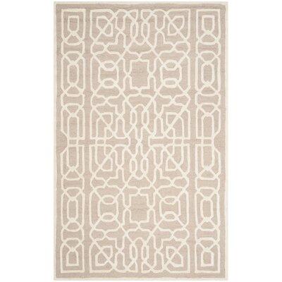 Martins Beige / Ivory Area Rug Rug Size: 5 x 8
