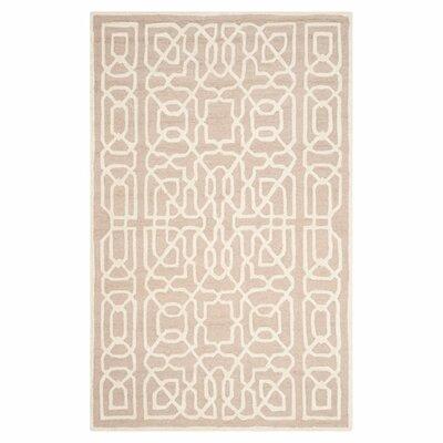 Martins Beige / Ivory Area Rug Rug Size: 6 x 9