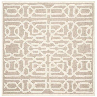 Martins Beige / Ivory Area Rug Rug Size: Square 6