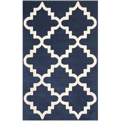 Wilkin Dark Blue / Ivory Area Rug Rug Size: 8 x 10