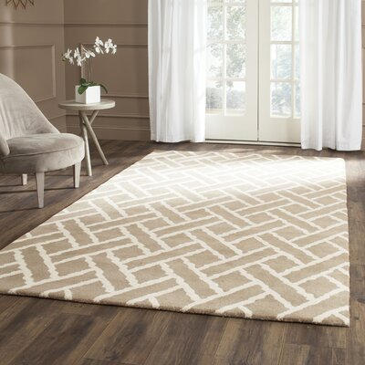 Wilkin Beige / Ivory Area Rug Rug Size: Rectangle 8 x 10