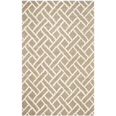 Wilkin Beige / Ivory Area Rug Rug Size: 5 x 8