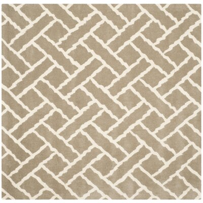 Wilkin Beige / Ivory Area Rug Rug Size: Square 5