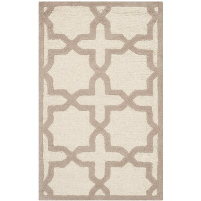 Martins Ivory / Beige Area Rug Rug Size: Rectangle 5 x 8