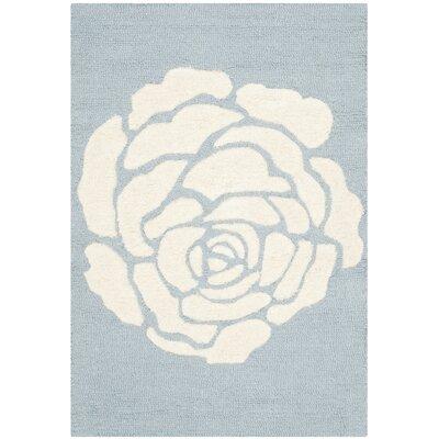 Martins Blue / Ivory Area Rug Rug Size: 5 x 8