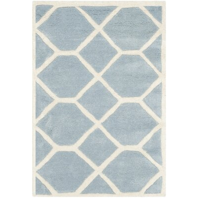 Wilkin Blue / Ivory Area Rug Rug Size: Rectangle 2' x 3'