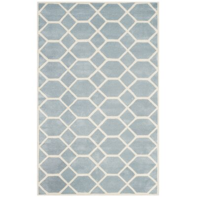 Wilkin Blue / Ivory Area Rug Rug Size: Rectangle 6 x 9