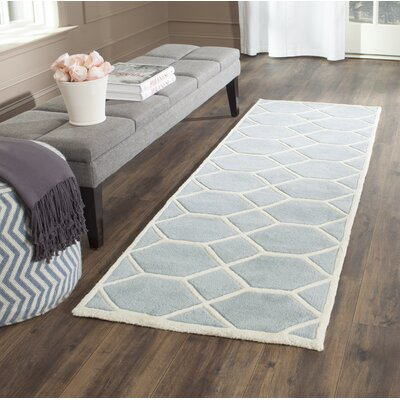 Wilkin Blue / Ivory Area Rug Rug Size: Runner 23 x 7