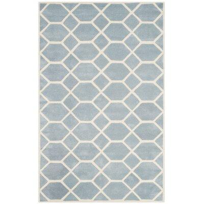 Wilkin Blue / Ivory Area Rug Rug Size: 5 x 8