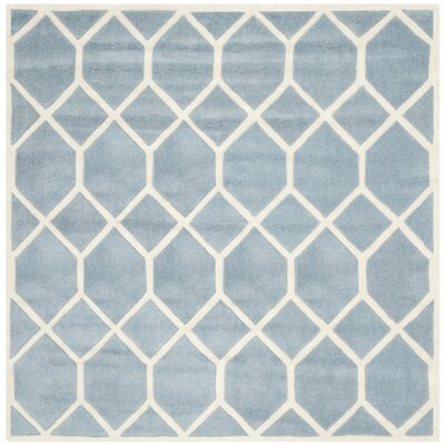 Wilkin Blue / Ivory Area Rug Rug Size: Square 5