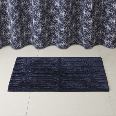 Lang Bath Rug Size: 20 x 30, Color: Navy
