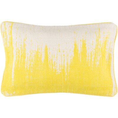 Lahey 100% Cotton Lumbar Pillow Cover Color: YellowNeutral