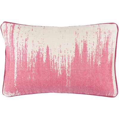 Lahey 100% Cotton Lumbar Pillow Cover Color: PinkNeutral