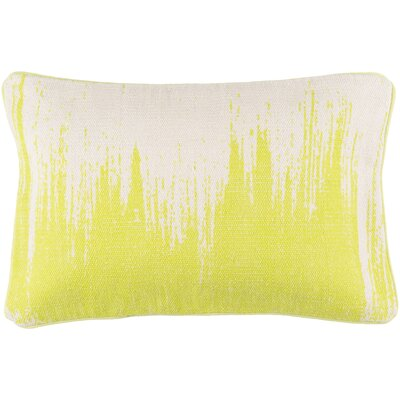 Lahey 100% Cotton Lumbar Pillow Cover Color: LimeIvory