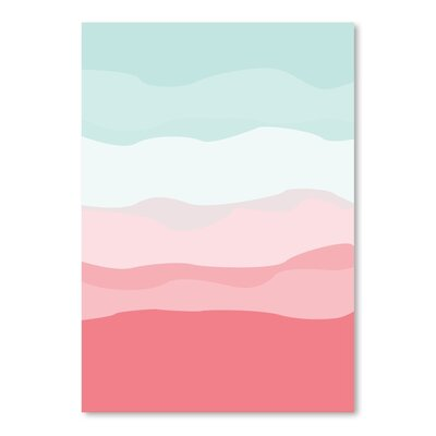 Coral Mint Abstract Poster Gallery Graphic Art