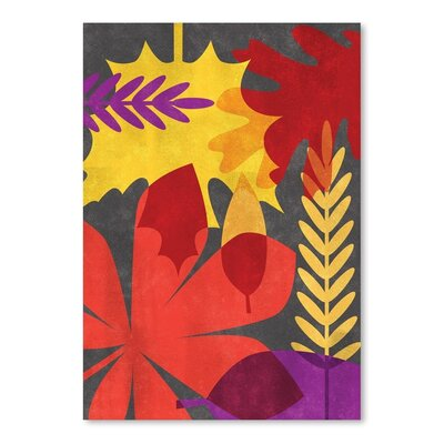 Leaf Background Flat Poster Gallery Painting Print
