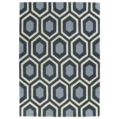 Servais Handmade Charcoal Area Rug Rug Size: 5 x 7