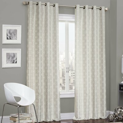 Eddleman Geometric Blackout Thermal Grommet Single Curtain Panel