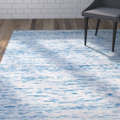 Short Hand-Loomed Blue Area Rug Rug Size: Runner 23 x 8