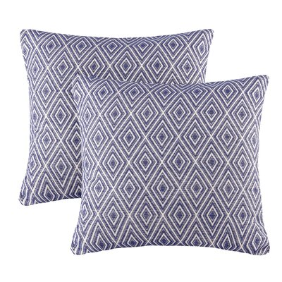 Scalf Diamond Throw Pillow Color: Navy