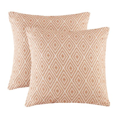 Scalf Diamond Throw Pillow Color: Orange