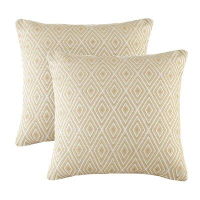 Scalf Diamond Throw Pillow Color: Yellow