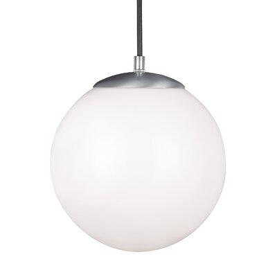 Soules Globe Pendant Finish: Satin Aluminum, Size: 10.75 H x 10 W x 10 D