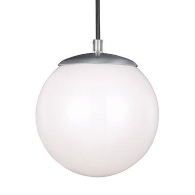 Soules Globe Pendant Finish: Satin Aluminum, Size: 8.5 H x 8 W x 8 D