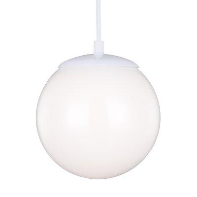Soules Globe Pendant Finish: White, Size: 8.5 H x 8 W x 8 D