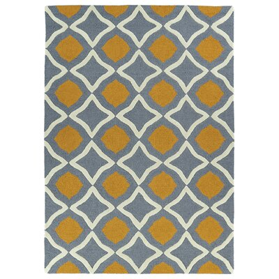 Serpens Handmade Gray/Orange Area Rug Rug Size: 2 x 3