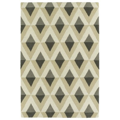Serpens Handmade Gray Area Rug Rug Size: Rectangle 5 x 7