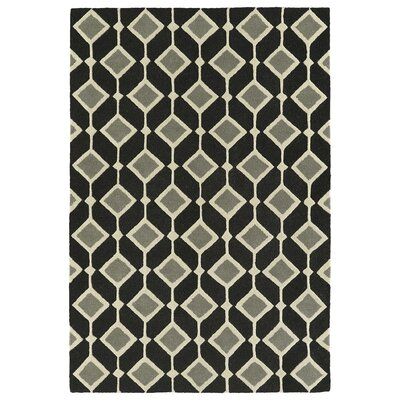 Serpens Handmade Black Area Rug Rug Size: Rectangle 5 x 7