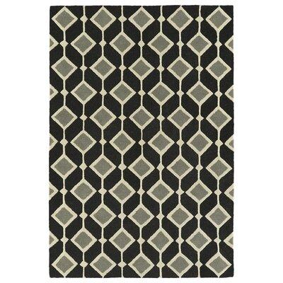 Serpens Handmade Black Area Rug Rug Size: 2 x 3