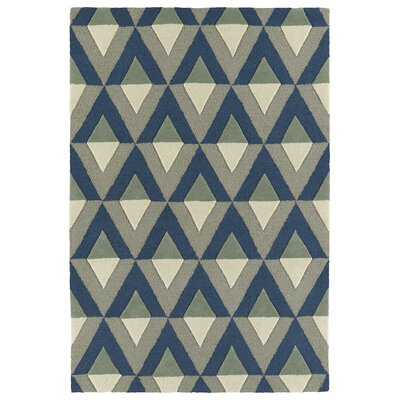 Serpens Handmade Blue Area Rug Rug Size: 3 x 5