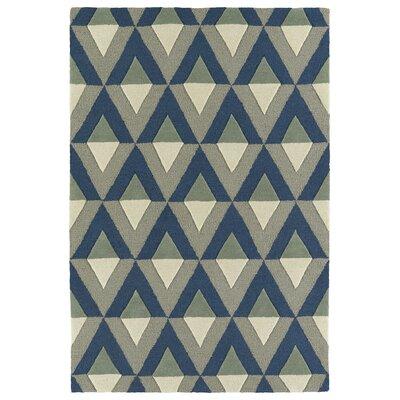 Serpens Handmade Blue Area Rug Rug Size: 8 x 10