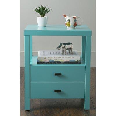 Sardina 2 Drawer Nightstand Finish: Turquoise