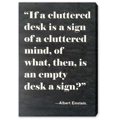 Cluttered Desk Textual Art