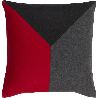 Clinton Pillow Cover Size: 22 H x 22 W x 0.25 D, Color: RedBlack
