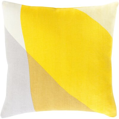 Clinkscales 100% Cotton Pillow Cover Size: 20 H x 20 W x 1 D, Color: Yellow