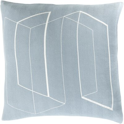 Sherrard 100% Cotton Throw Pillow Cover Color: BlueNeutral, Size: 20 H x 20 W x 1 D