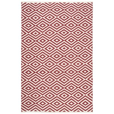 Sesco Hand-Woven Red Area Rug Rug Size: 76 x 96