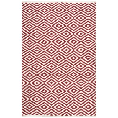 Sesco Hand-Woven Red Area Rug Rug Size: 5' x 7'6