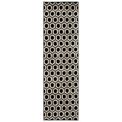 Severin Black/Ivory Area Rug Rug Size: Rectangle 710 x 106