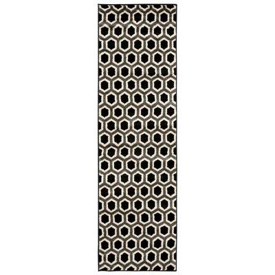 Severin Black/Ivory Area Rug Rug Size: 710 x 106